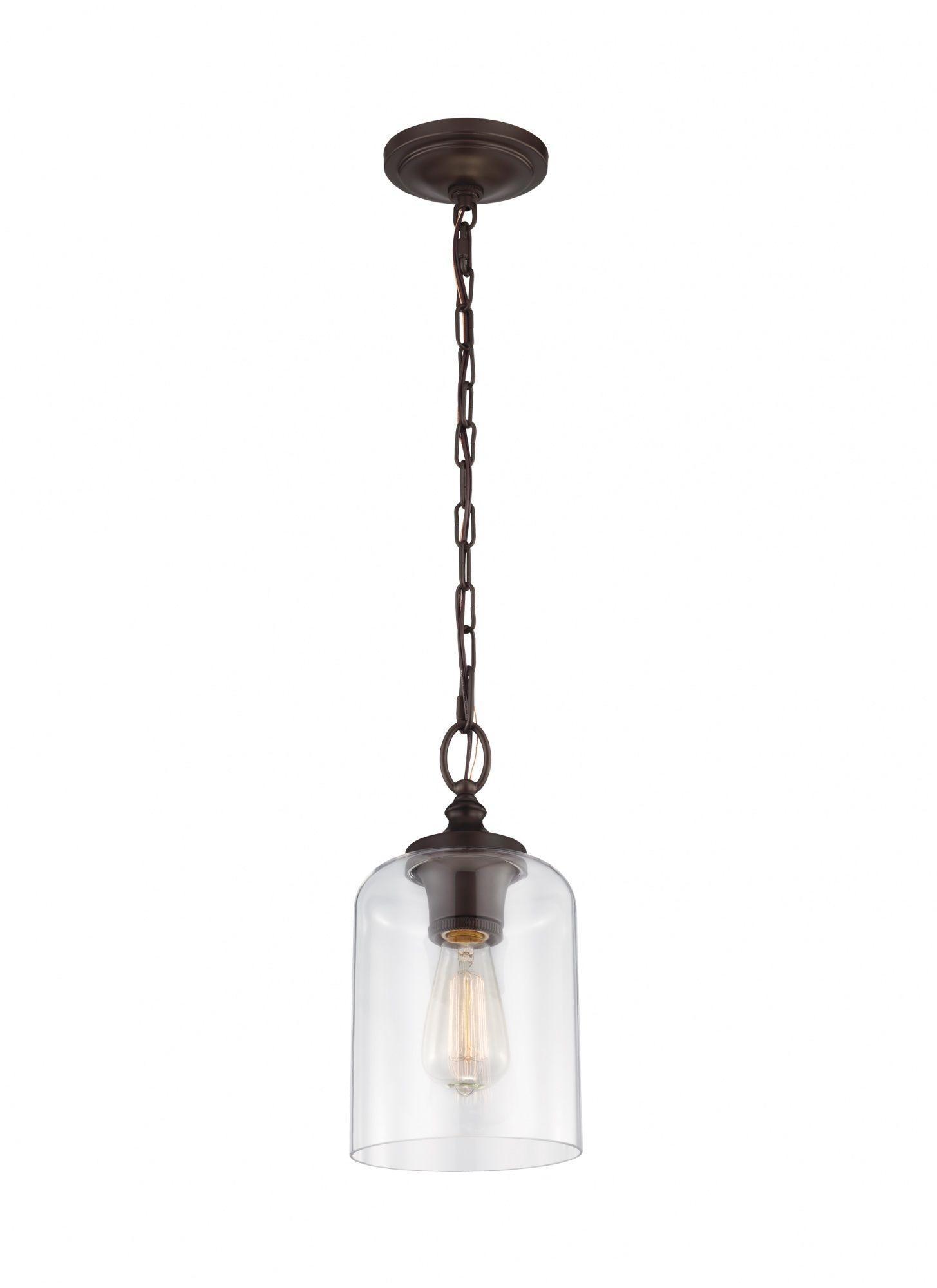 Lampa wisząca Hounslow FE/HOUNSLOW/PORB Feiss klasyczna oprawa w kolorze brązu