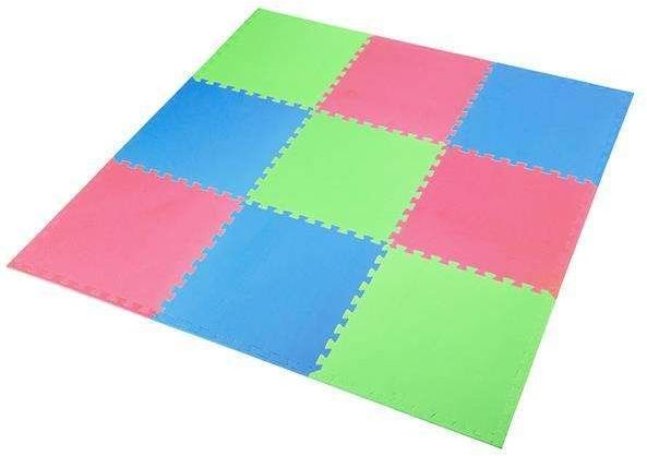 ONE FITNESS MP10 MULTIPACK GREEN-BLUE-RED - 17-63-082 - Mata puzzle, 9 elementów, 10mm