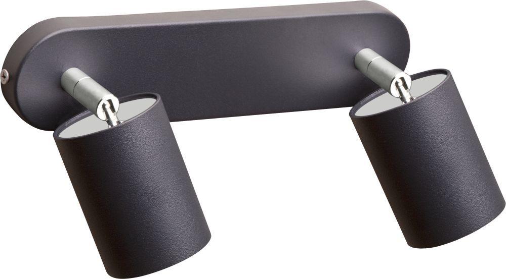 Plafon Eye Spot 6135 Nowodvorski Lighting uniwersalna podwójna oprawa w kolorze grafitu