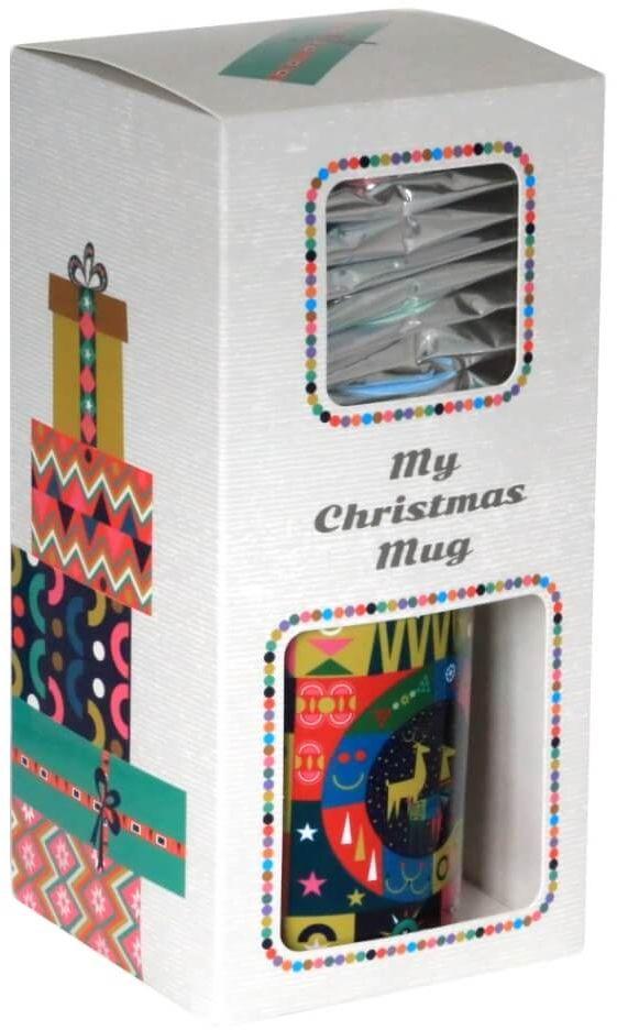 Zestaw świątecznych herbat z kubkiem - My Christmas Mug - doskonały prezent upominek na mikołaja lub gwiazdkę. Gramatura 9x5g+1x8g