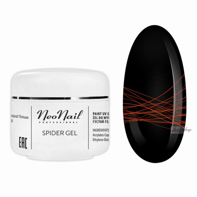 NeoNail - SPIDER GEL - Żel do do wykonywania trwałych zdobień na paznokciach - 6992 NEON ORANGE