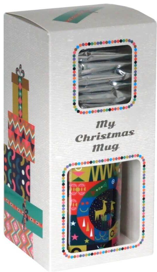 Świąteczny Bożonarodzeniowy Zestaw kaw - My Christmas Mug! - 10 wyjątkowych smaków kaw aromatyzowanych z kubkiem. Gramatura 10x10g