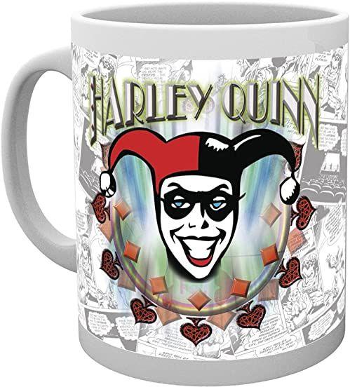DC Comics Kubek z logo Batman Harley Quinn, wielokolorowy