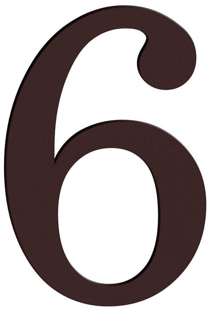 Cyfra 6/9 wys. 18 cm PVC brązowa