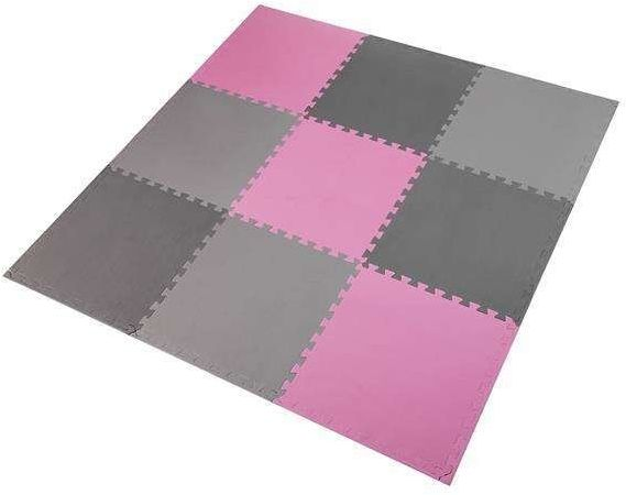 ONE FITNESS MP10 MULTIPACK PINK-GREY - 17-63-084 - Mata puzzle, 9 elementów, 10mm