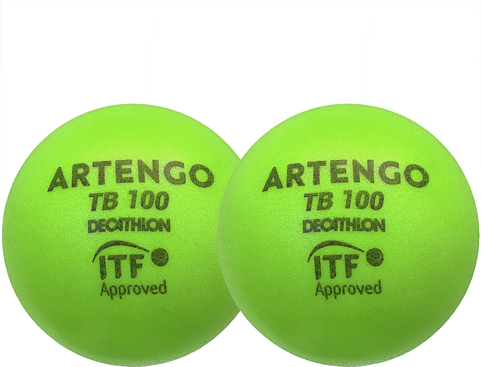Piłka tenisowa z pianki Artengo TB100*2 9cm
