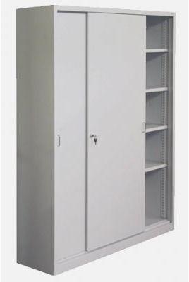 Metalowa szafa aktowa do biura z drzwiami żaluzjowymi Sbm 222 m