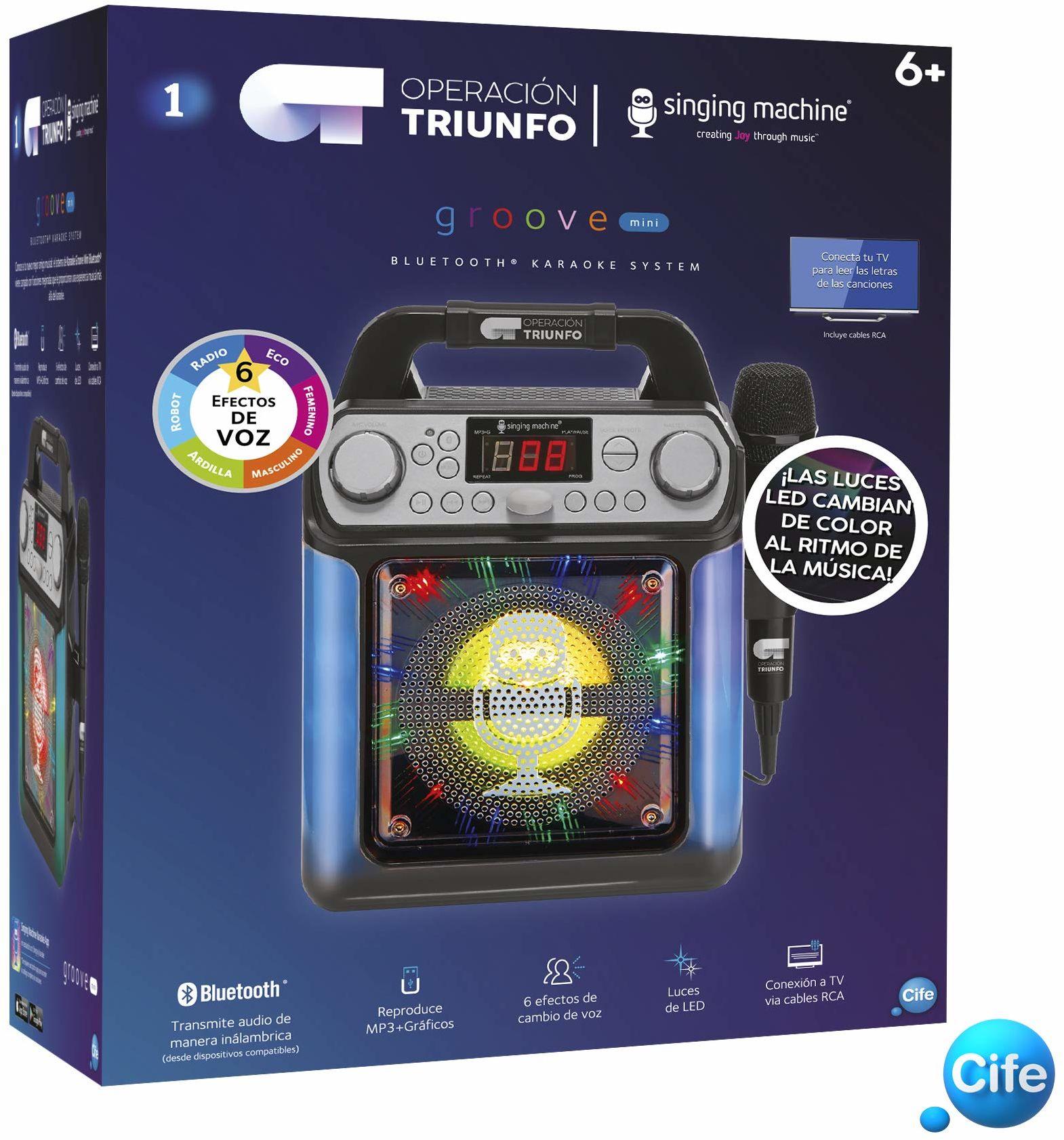 Triunfo Operation Karaoke, czarny z diodami LED (41656)