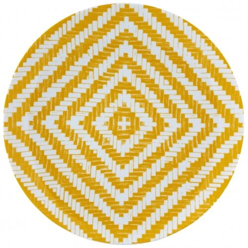 Talerz Olhar o Brasil żółty Vista Alegre