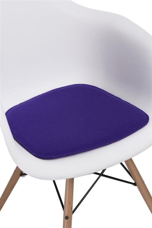 Intesi Arm Chair fioletowa poduszka na krzesło