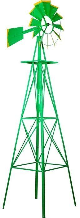 ZIELONY WIELKI WIATRAK 245 CM DEKORACJA NA OGRÓD - Zielony