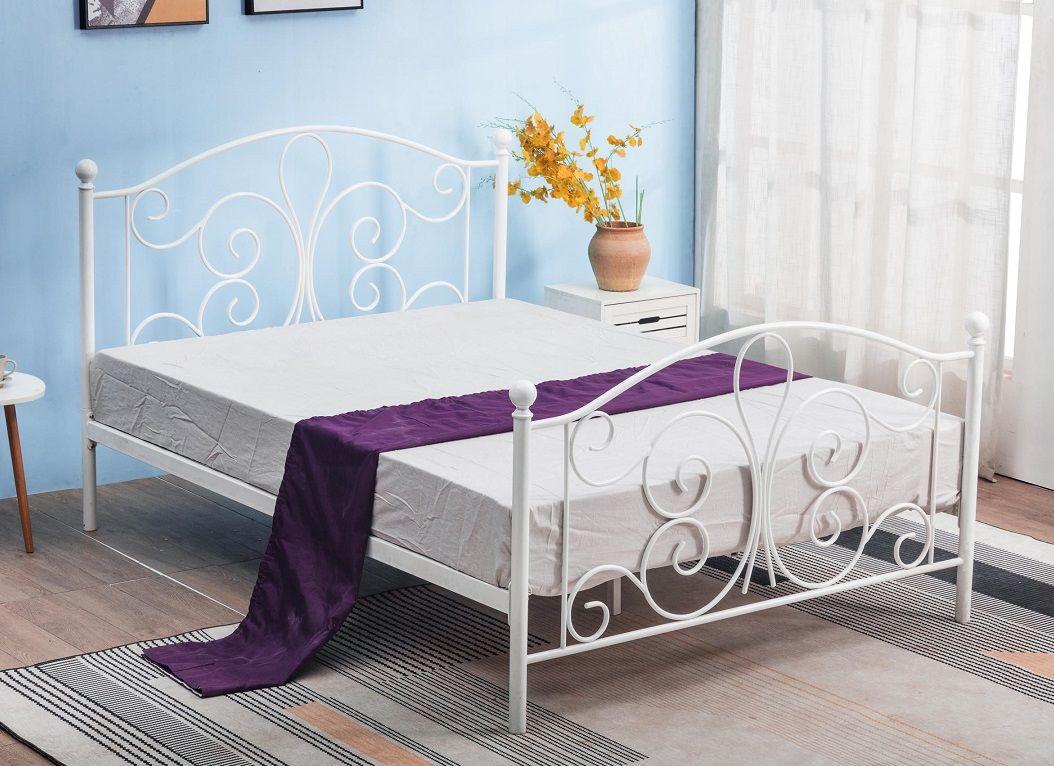 Łóżko metalowe SETRA 120 biały