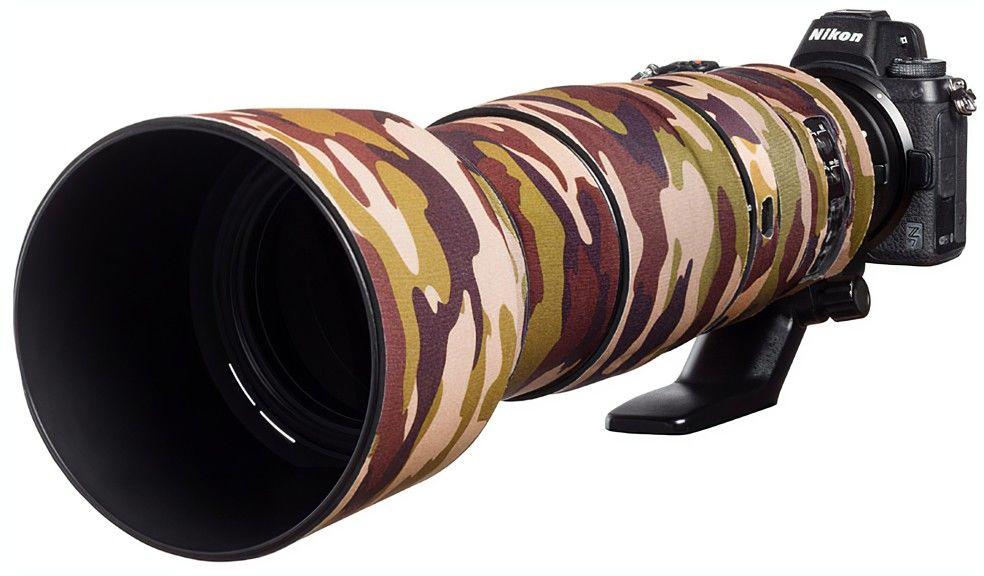 Neoprenowa osłona easyCover na obiektyw Nikon 200-500mm f/5.6 VR kamuflaż brąz