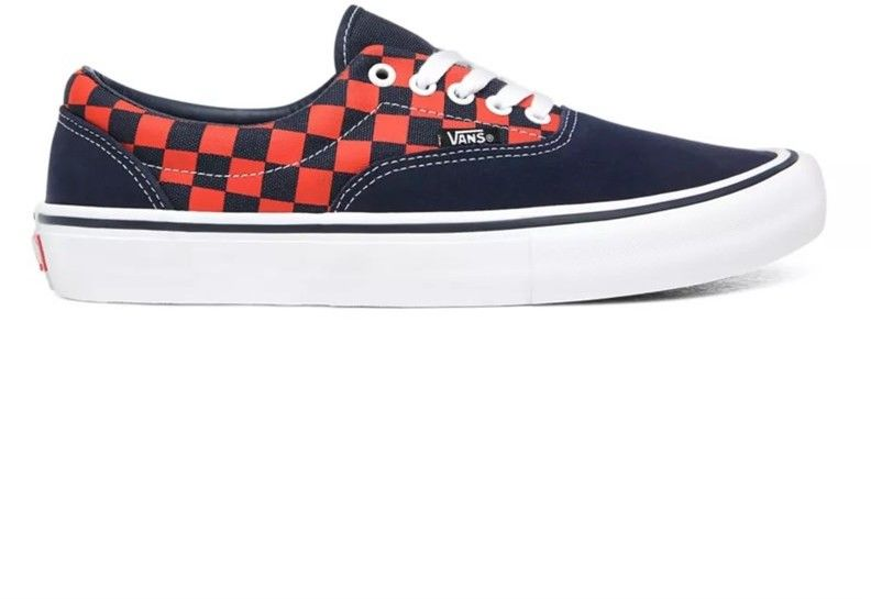 buty VANS - Era Pro (Checkerboard)Navy/Orange (W7E
