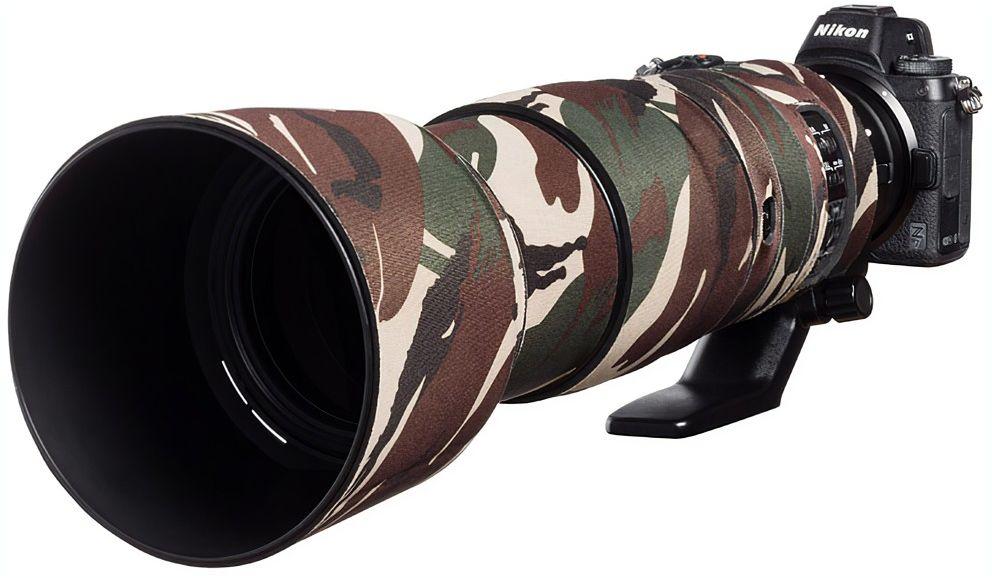 Neoprenowa osłona easyCover na obiektyw Nikon 200-500mm f/5.6 VR kamuflaż zieleń