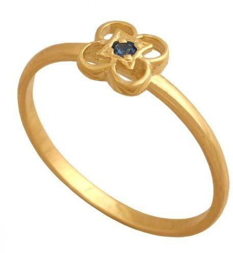 Złoty pierścionek młodzieżowy Pn447