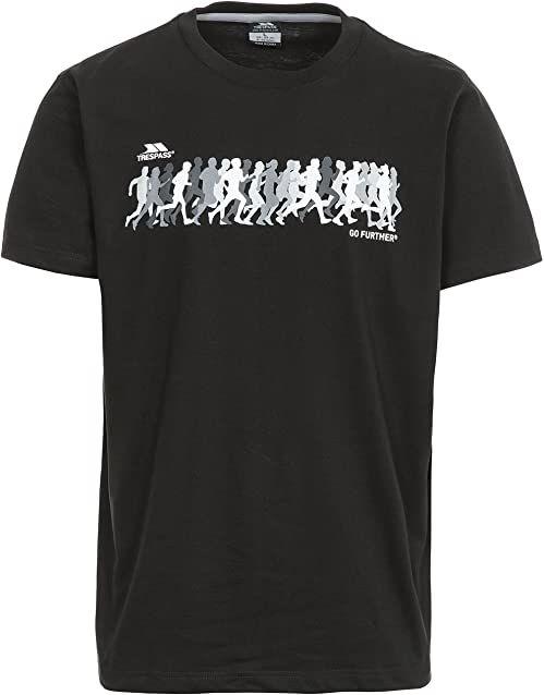 Trespass męska koszulka z krótkim rękawem Hiker Czarny XXS