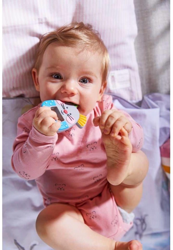 Gryzak dla dzieci Myszka HB305159-Haba, zabawki dla niemowląt