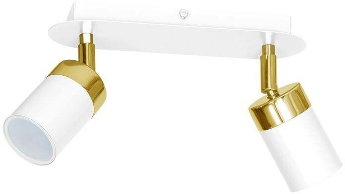 Lampa sufitowa JOKER WHITE/GOLD 2xGU10