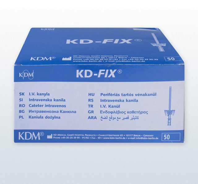 Kaniula dożylna (wenflon) KD-Fix (50 szt) 2.10x45mm 14G pomarańczowy