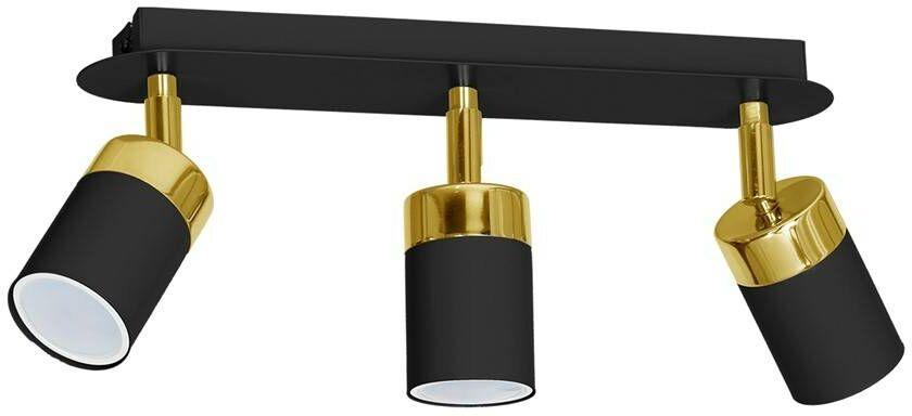 Lampa sufitowa JOKER BLACK/GOLD 3xGU10