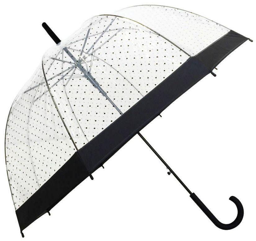 Smati - długi parasol - lady - przeźroczysty w kropki