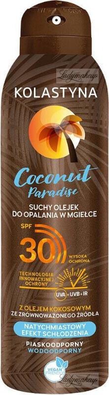 KOLASTYNA - Coconut Paradise - Suchy olejek do opalania w mgiełce - SPF30 - 150 ml