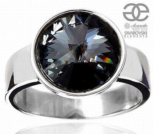 SWAROVSKI piękny pierścionek SILVER NIGHT SREBRO