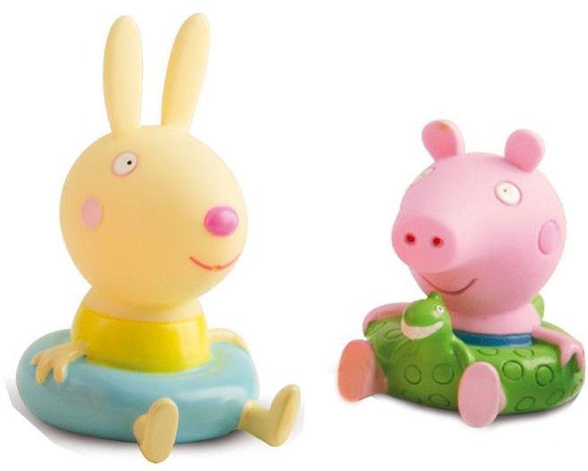Świnka Peppa - Figurki do kąpieli Świnka George i Królik Rebecca 360082