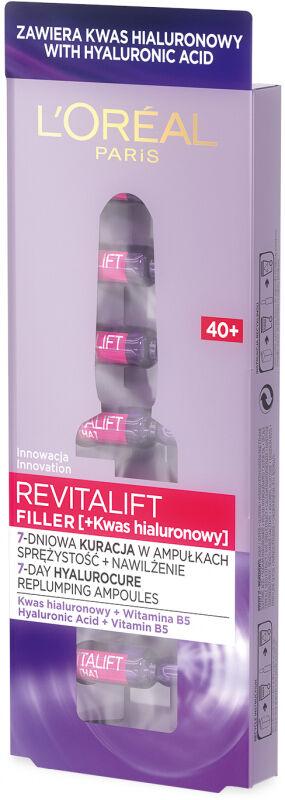 L''Oréal - REVITALIFT FILLER [HA] - 7 dniowa przeciwzmarszczkowa kuracja w ampułkach - 40+