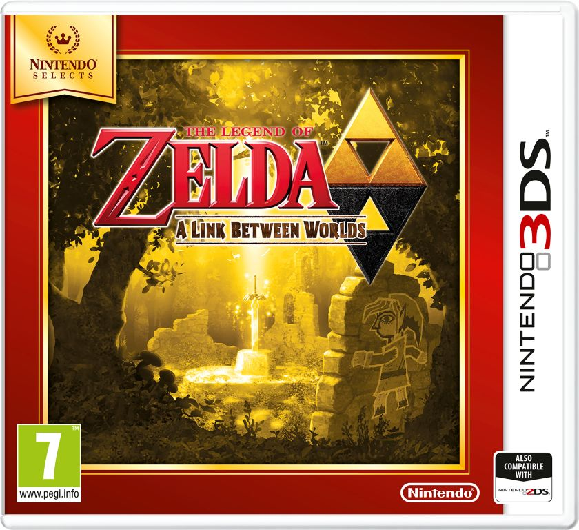 Gra The Legend of Zelda: A Link Between Worlds - Nintendo selects (3DS)