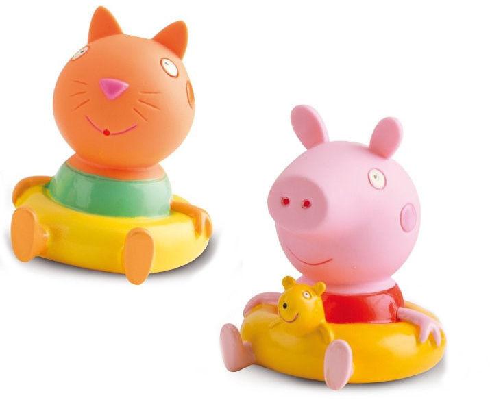 Świnka Peppa - Figurki do kąpieli Świnka Peppa i Kot Candy 360082