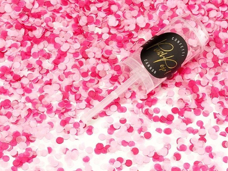 Konfetti różowe Push pop 1 sztuka PPK4-000