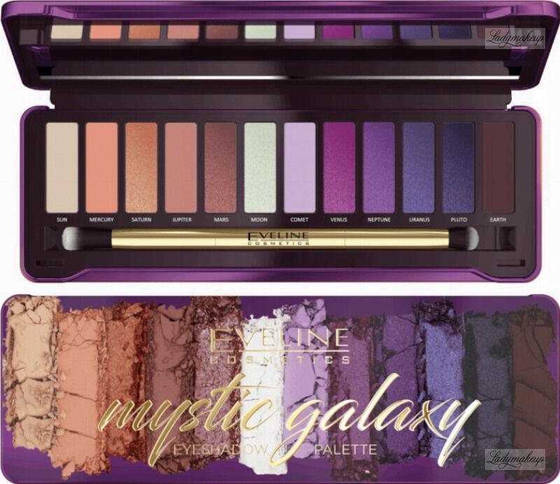 Eveline Cosmetics - Mystic Galaxy Eyeshadow Palette - Paleta 12 cieni do powiek