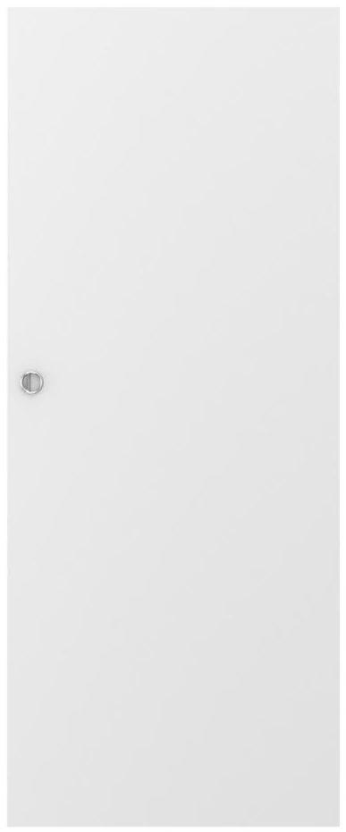 Skrzydło przesuwne pełne Basic Białe 70 Uniwersalne