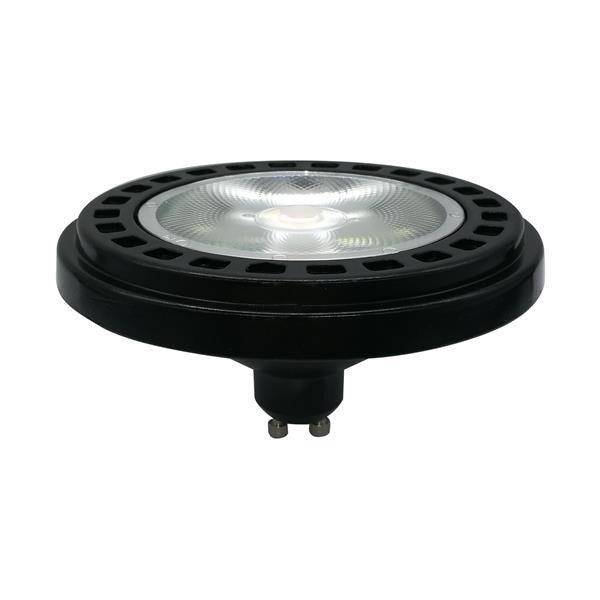 LED ES111 / GU10 15W ciepła 3000K kąt 30st BL