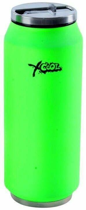 Kubek termiczny, termos, bidon, puszka, neonowa, zielony, 0,4 l
