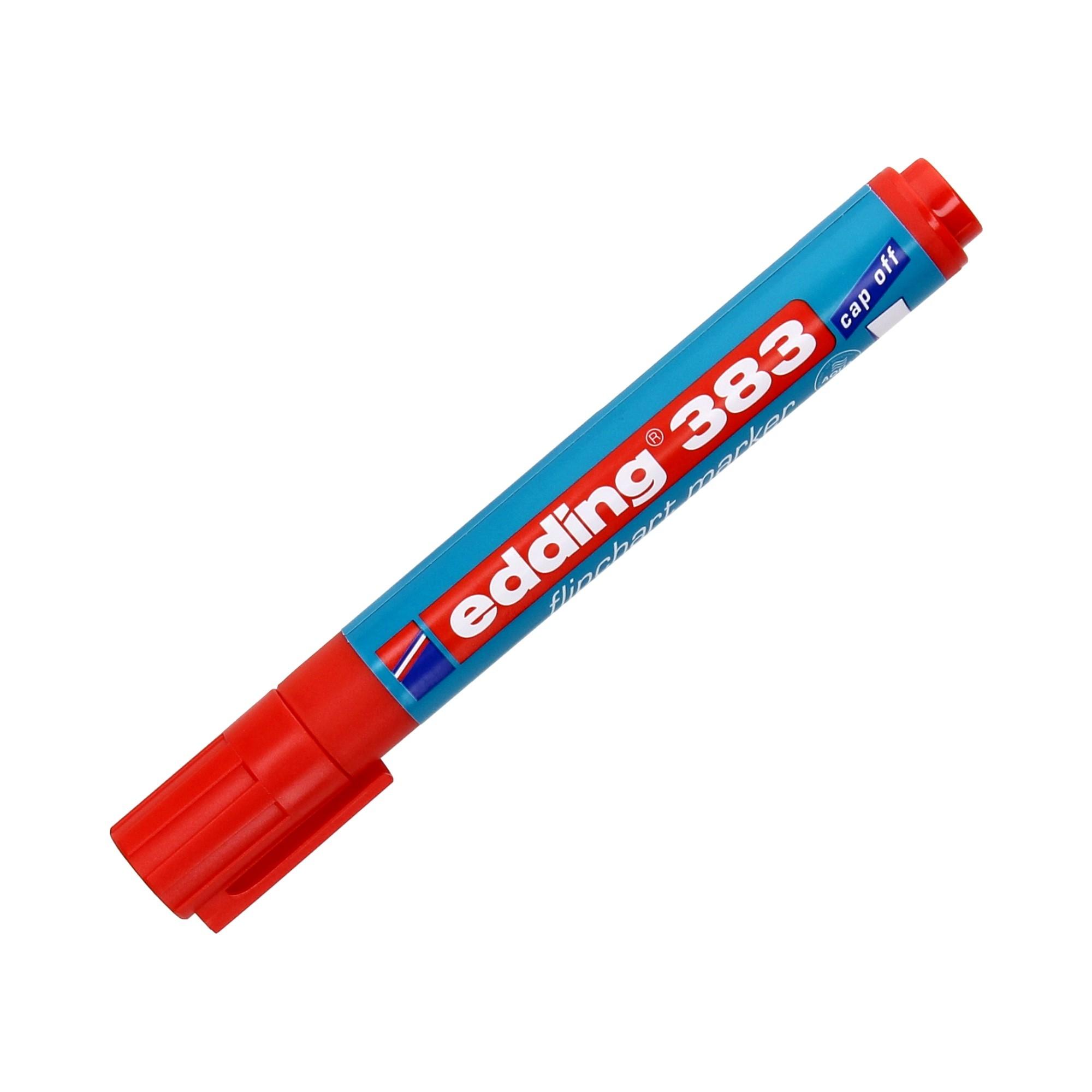 Marker flipchart 1.0-5.0mm czerwony ścięty Edding 383