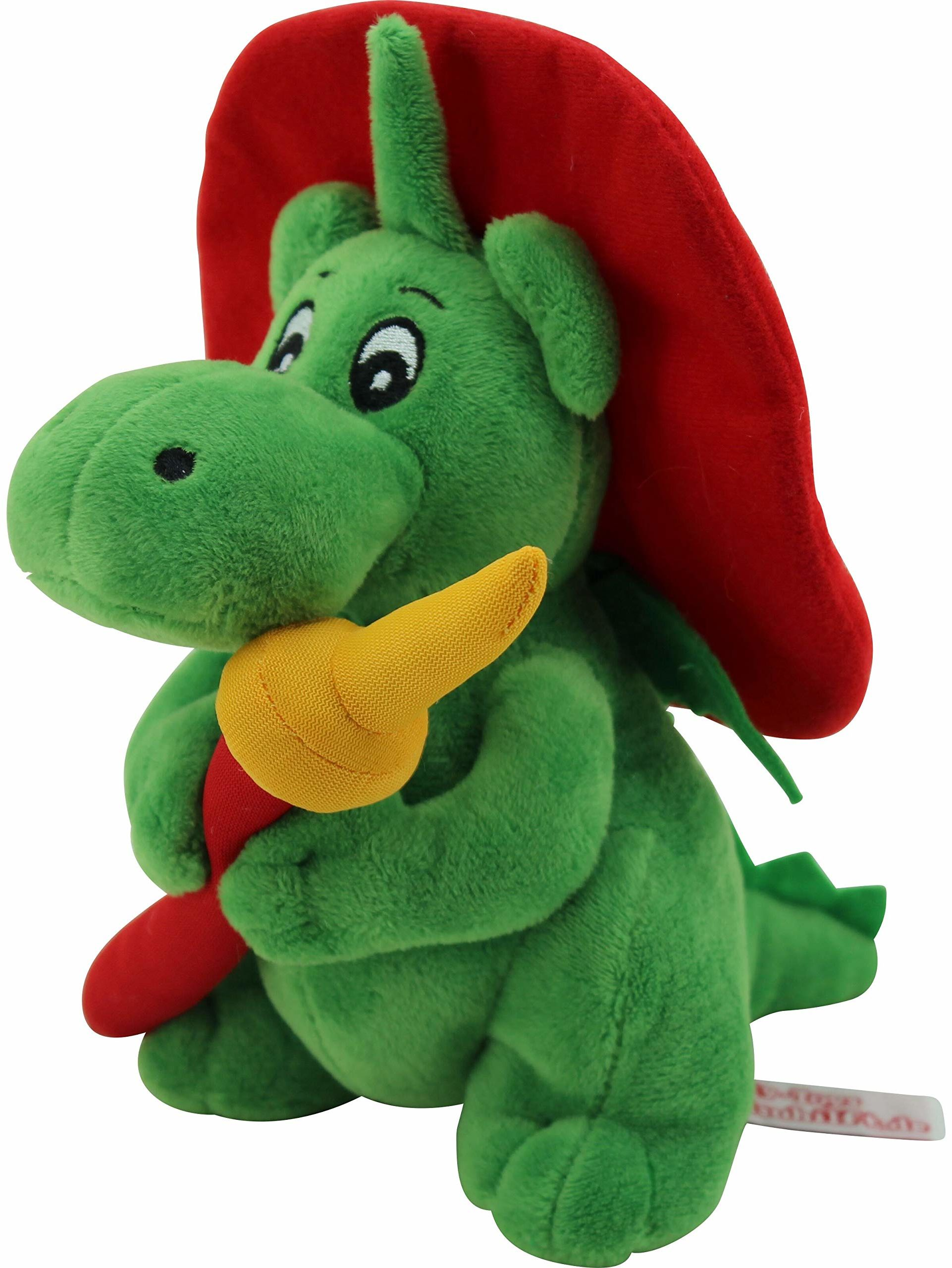 Sweety Toys 11025 smok XL GRISU 20 cm z wężem straży pożarnej maskotka pluszowa ok. 20 cm