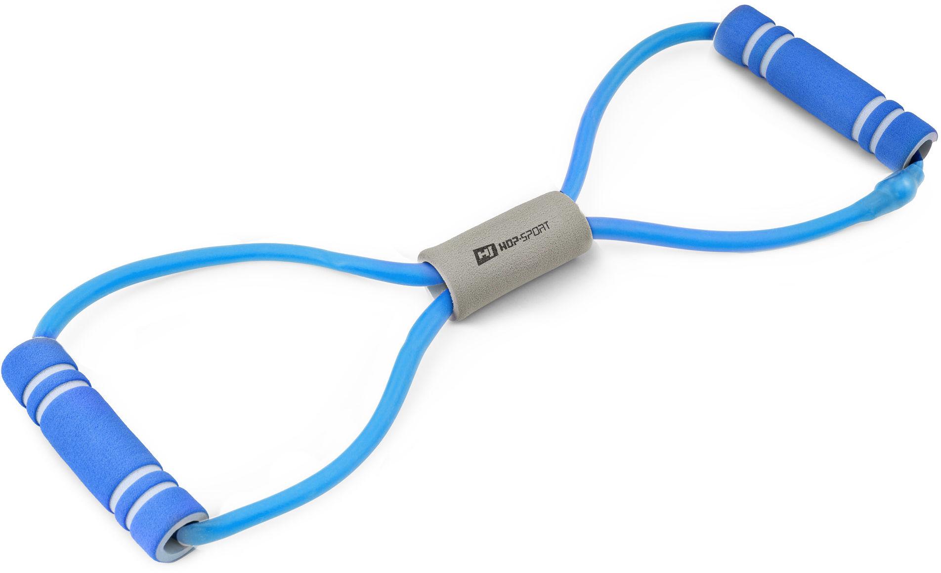 Ekspander gumowy z piankowymi uchwytami niebieski