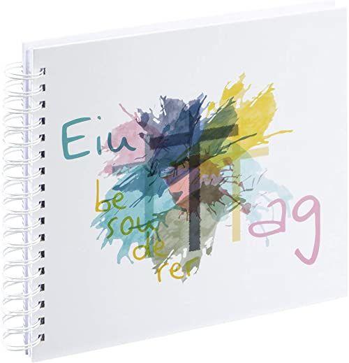 """Hama album na komunię, 28 x 24 cm,""""Szczególny dzień"""" (album na bierzmowanie/komunię, 50 białych pustych stron, na maks. 100 zdjęć w formacie 10 x 15) księga gości, album pamiątkowy, kolorowy/biały"""