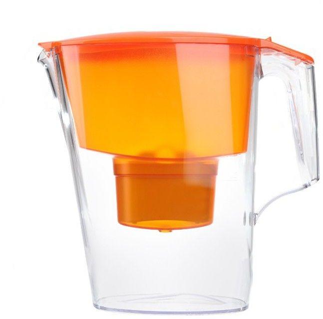 Aquaphor Time Pomarańczowy Dzbanek do wody 2,5L filtr 1 szt B100-25 Maxfor+4 szt FilterLogic FL-402H