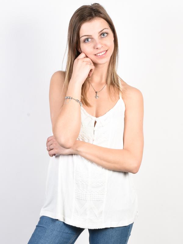 Roxy CRAZY MEMORIES Marshmallow bawełniany podkoszulek damski - S