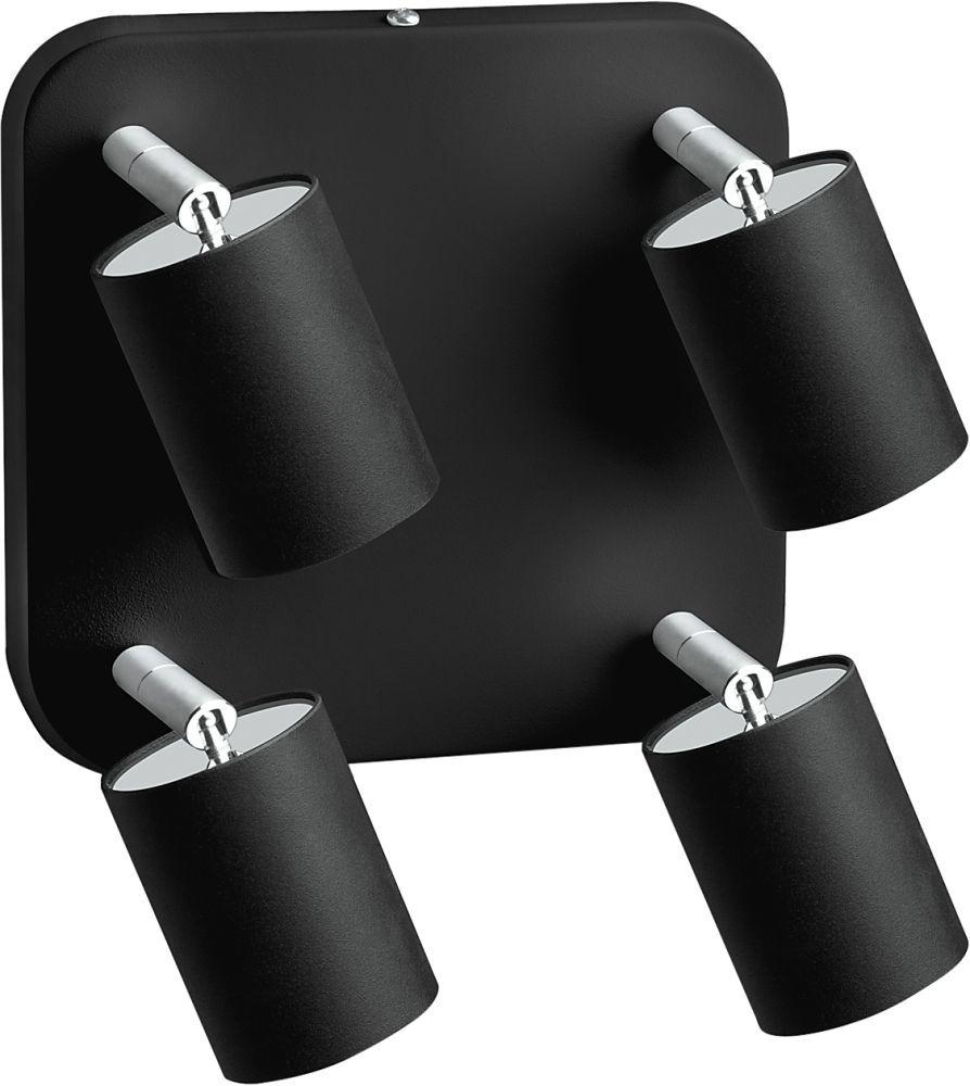 Plafon Eye Spot 6022 Nowodvorski Lighting kwadratowa oprawa w kolorze czarnym