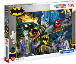 Clementoni 25708 puzzle Supercolor - Batman-104 sztuk - wyprodukowano we Włoszech, puzzle dla dzieci
