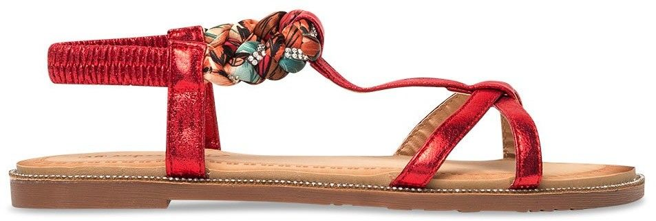 Sandałki damskie Super Mode 1991 Czerwone