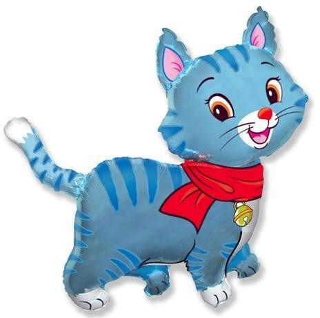 Balon foliowy Niebieski kotek