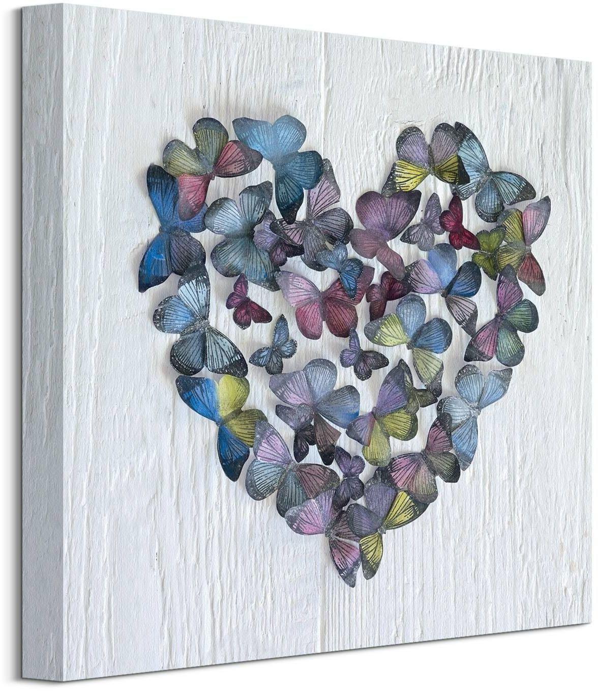Serce z motyli - obraz na płótnie