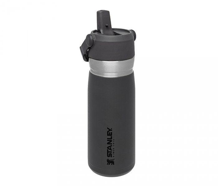 Bidon termiczny STANLEY GO FLIP STRAW 650 ml ze słomką (grafitowy)