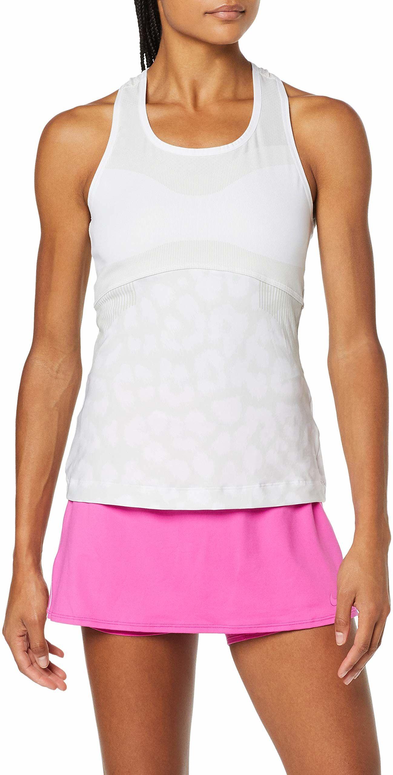 adidas Damska koszulka Stella McCartney Court Tank-Top biała, jasnoszara, L